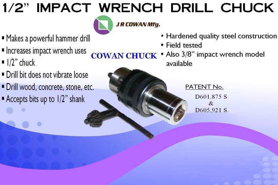 Picture of impact wrench drill chuck ad front side.