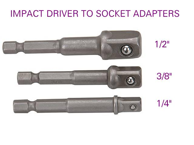 Picture of hex drivers for impact driver accessories.